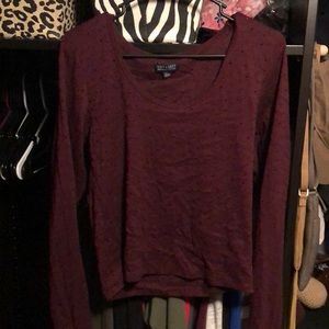 Long sleeve, longer crop shirt